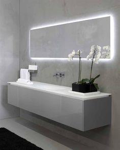 Genial Add Lighting Drama With LED Backlighting Ideas. Modern Bathroom MirrorsBath  ...