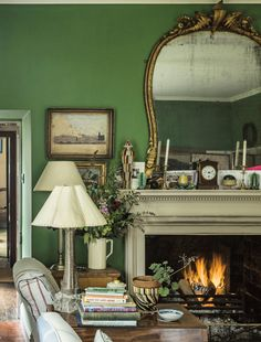 fireplace | english country home
