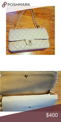 Chanel lambskin classic flap bag Beautiful cream colored jumbo lambskin quilted shoulder bag. This was a gift and cannot confirm authenticity. Price reflects such. Submit an offer! CHANEL Bags Shoulder Bags