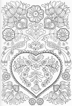 Scandinavian Coloring Book Pg 41