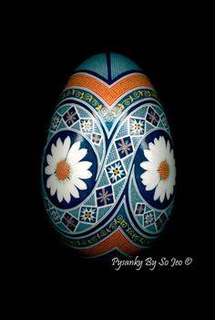 Daisies Ukrainian Easter Egg Pysanky By So Jeo