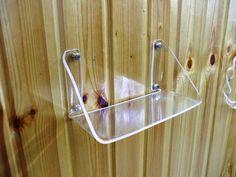 Clear Acrylic Plexi-Glass Bathroom Bath Kitchen Wall Hanging Shelf Holder