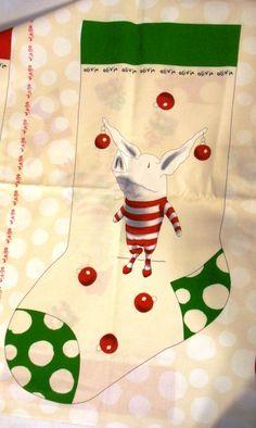 Christmas Stocking Fabric Panels