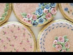 How To Create a Cracked Glaze Effect on a Cookie Using Royal Icing - YouTube