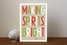 Making Spirits Bright Holiday Non-Photo Cards by a... | Minted