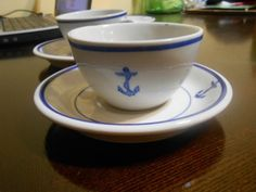 Tepco US Navy Military Mess China Tea Cup Saucer Vintage Fouled Anchor Nautical   eBay