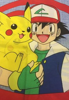 Vintage Pokemon Standard Pillowcase 90s Nintendo Pikachu Ash Clefairy Squirtle #Nintendo #Pokemon