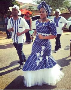 traditional shweshwe dresses 2017 African Traditional - style you 7 South African Traditional Dresses, Traditional Dresses Designs, Traditional Wedding Dresses, Traditional Outfits, Venda Traditional Attire, Traditional Weddings, African Wedding Attire, African Attire, African Wear