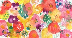 Landscapes Mixed Media - Watercolor Garden by Linda Woods