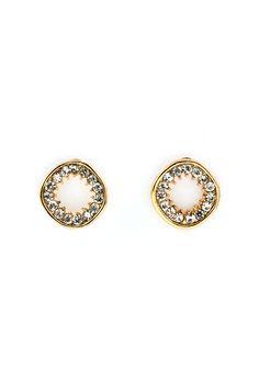 Crystal Circlet Earrings//