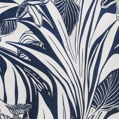 Blue/White Floral Stretch Cotton Twill Fabric by the Yard | Mood Fabrics
