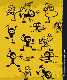 Go Ninja Go! Learn how to #draw an army of stick figure ninjas from Billy Attinger's Stick Sketch School.