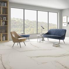 La nueva Serie #Larsen es una superficie en el que se unen poderosas vetas en tonos grises sobre un fondo de gran blancura, fiel reflejo de la pureza más absoluta. #porcelánico #diseño #interiorismo