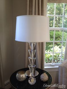 This crystal lamp is from Decorative Crafts. A favorite lamp vendor of mine