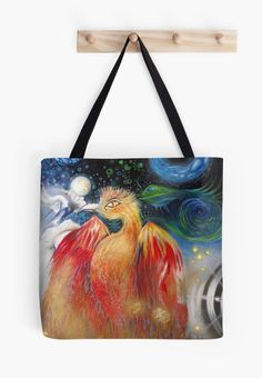 They come in large too! Art on a Tote Bag.Chaoskampf Demiurge — Templeton (Rock Art Series) by Cherie Roe Dirksen Art Series, Art Music, Rock Art, The Rock, People, Tote Bag, Canvas, Bags, Painting