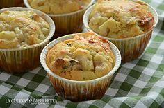 Muffin con pere noci e gorgonzola