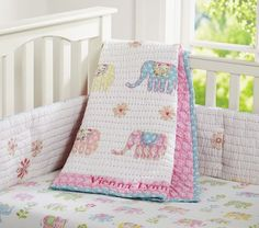 Vienna Elephant Nursery Bedding | Pottery Barn Kids