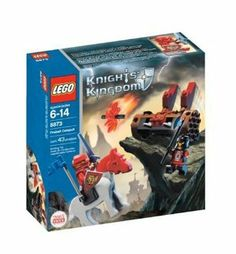 LEGO Knights Kingdom Fireball Catapult by LEGO. $42.89. Sir Santis must get past the fireball catapult to reach the Lost Kingdom of Ankoria. Contains 43 pieces. Includes Sir Santis and Shadow Knight. From the Manufacturer                Sir Santis must get past the fireball catapult to reach the Lost Kingdom of Ankoria. Can he dodge the devastating fireballs or will his adventure end here? Includes Sir Santis and Shadow Knight.                                    Product Desc...