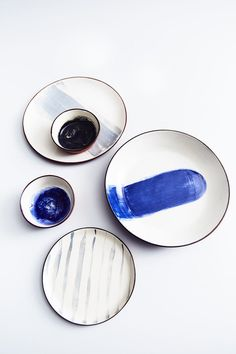 Hand-decorated made-to-order terracotta plates and bowls by Silvia K Ceramics