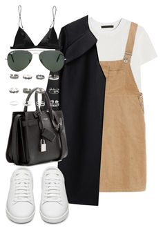 """""""Untitled #1967"""" by sarah-ihab ❤ liked on Polyvore featuring Alexander Wang, A Détacher, Yves Saint Laurent, Ray-Ban, T By Alexander Wang and Retrò"""