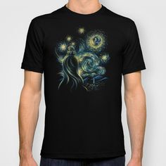 Death Starry Night T-shirt by The Cracked Dispensary - $22.00
