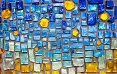 fond de verre coloré mosaïque mur Banque d'images