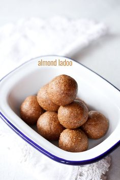 badam ladoo recipe - quick and easy ladoos made with almonds, jaggery and raisins #sweets #northindian
