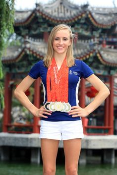 In the 2008 Olympics in Beijing, Nastia Liukin had some trouble getting through airport security with all of her medals.  The 22-year-old superstar took home gold for her individual all-around performance, two silvers on the balance beam and uneven bars and bronze on floor. Look for her at the 2012 London Olympics.