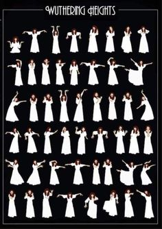 Poster design depicting Kate Bush dance sequence for Wuthering Heights Kate Bush Wuthering Heights, Wuthering Heights Quotes, Amazing Grace, Divas, Bronte Sisters, Plakat Design, Poster Design, Graphic Design, Guitar Tips