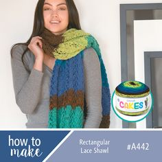 A442 Rectangular Lace Shawl How To Sheet - Cakes Yarn Free Pattern - Lincraft