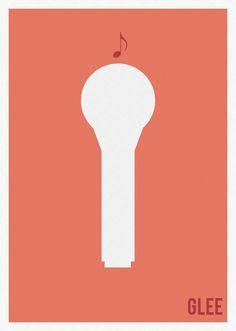 Glee minimalist tv poster serie