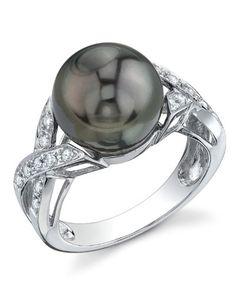 11mm Tahitian South Sea Cultured Pearl & Diamond Infinity Ring in 18K Gold The Pearl Source http://www.amazon.com/dp/B002INCU6E/ref=cm_sw_r_pi_dp_vhdNvb16RWT77