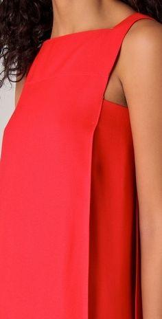 dvf red dallas dress