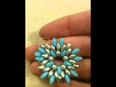 TUTORIAL ANELLO CELESTINO CON SUPERDUO BEADS (Tutorial ring celestino with superduo)