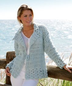 Women's Hand Crochet Sweater Shell Stitch Sweater by StoneThicket