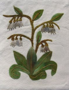 COMFREY Wool Applique Kit by ThistleAndFoxglove on Etsy, $31.00