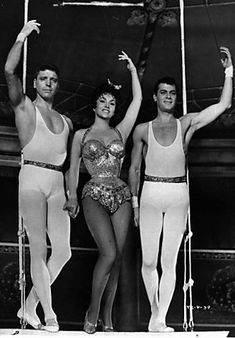 Trapeze with Burt Lancaster, Gina Lollobrigida and Tony Curtis. 1956