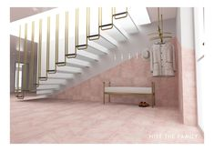 New Modern Kollektion - Nise The Family Light Grey Walls, Entrance, Stairs, Calm, Rooms, Ceiling Lights, Flooring, 3d, Interior Design