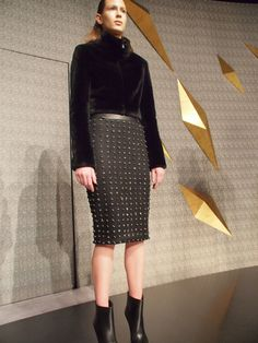 embroidered meteorites onto a skirt,