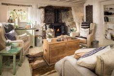Image result for cornish cottage interiors