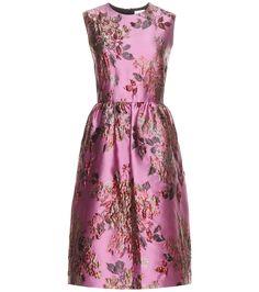 Metallic pink jacquard dress