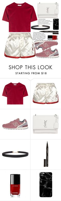 """""""Untitled #2114"""" by anarita11 ❤ liked on Polyvore featuring Tommy Hilfiger, New Balance Classics, Yves Saint Laurent, Humble Chic, Smith & Cult and Chanel"""