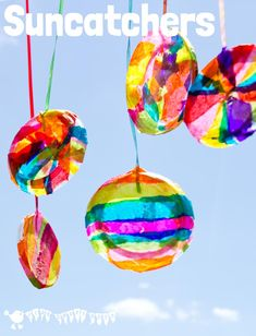 COLOURFUL SUNCATCHERS Here's a super easy suncatcher craft that kids of all ages can enjoy. But be prepared - they're so beautiful the kids won't want to stop at just making one! Diy Crafts For Kids Easy, Summer Crafts For Kids, Toddler Crafts, Spring Crafts, Kids Crafts, Art For Kids, Craft Kids, Kids Garden Crafts, Christmas Crafts For Kids To Make At School