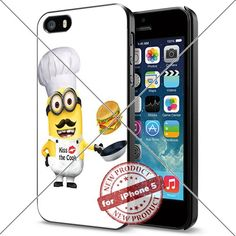 (Available for iPhone 4,4s,5,5c,5s,6,6Plus and Samsung S5,S6,S6Edge,S6EdgesPlus,Note4,5) Minion Kiss the Cook Cool Smartphone Case Covers Collector iphone TPU Rubber Case Black ILHAN http://www.amazon.com/dp/B018JPRAJQ/ref=cm_sw_r_pi_dp_akhNwb0J5GYGA