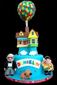 Up Cake <3  @Ashley Walters Ingalls fun topper in the air
