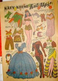Katy Keene paper doll / eBay