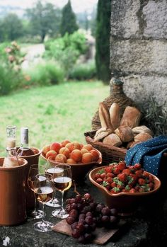 ~ Wine ~ Bread ~ Fruit