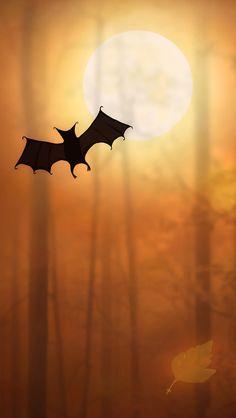 Halloween Bats iPhone Wallpapers