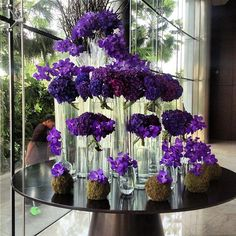 floral centerpieces for hotel lobbies | Beautiful flower arrangement in the lobby of The Address Hotel ...