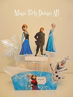 Frozen , centros de mesa personalizados